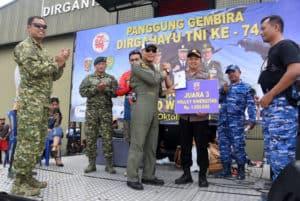 LANUD WIRIADINATA GELAR PANGGUNG GEMBIRA HUT TNI KE – 74