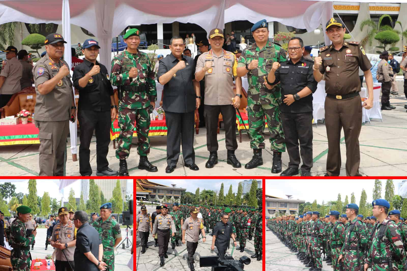 Apel Bersama Persiapan Pengamanan Pelantikan Presiden Terpilih