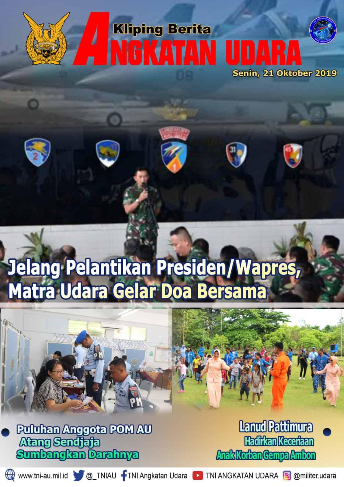 Kliping Berita Media 21 Oktober 2019