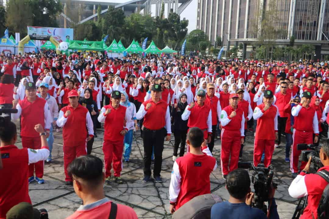 Danlanud Rsn Hadiri Deklarasi Riau Anti Narkoba dan Pencanangan Desa bersinar