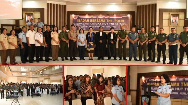 Danlanud Rsn, Hidup Rukun Damai Cinta Kasih, TNI-POLRI Semakin Kuat