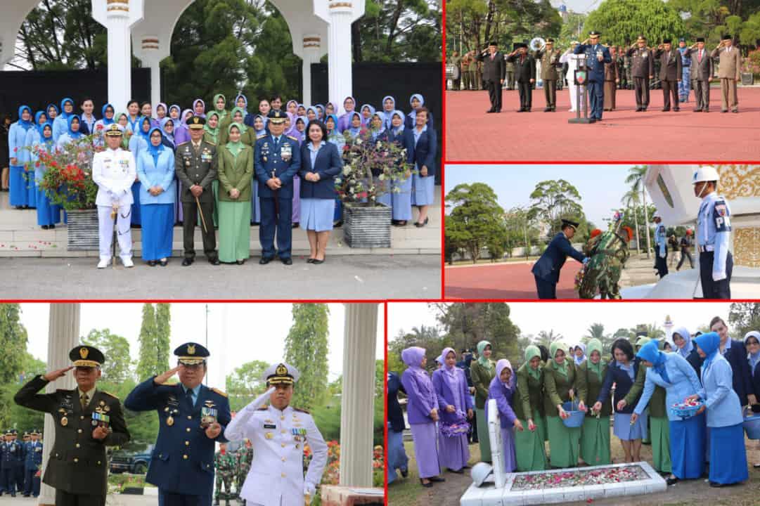 Danlanud Rsn Pimpin Ziarah Nasional HUT Ke-74 TNI