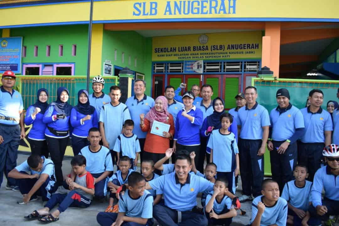Lanud Adi Soemarmo Gelar Olahraga Bersama Sambil laksanakan kegiatan sosial