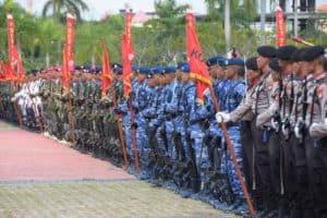 Danlanud RHF Hadiri Upacara Peringatan HUT TNI ke-74 di Batam