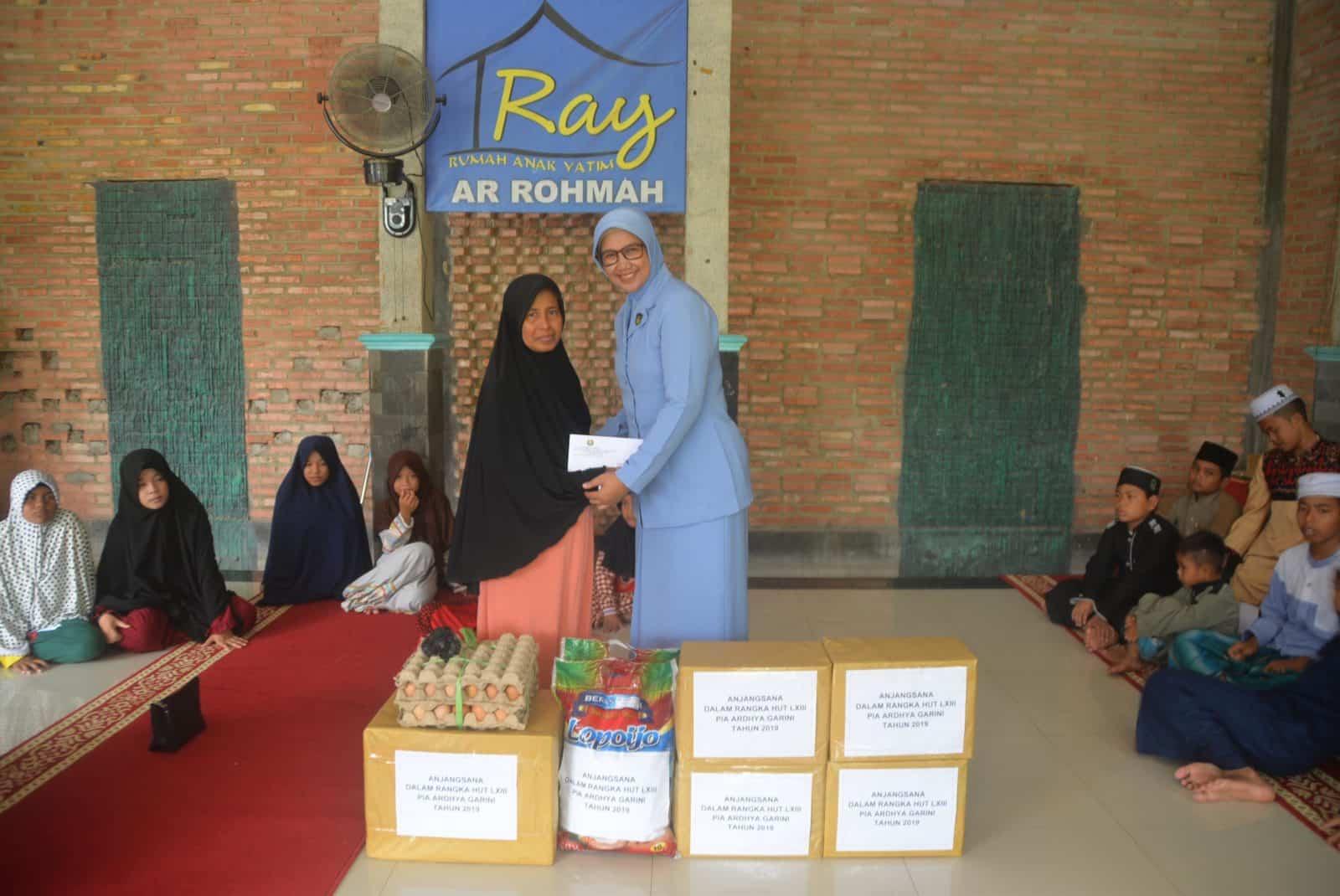 Anjangsana PIA AG Cab.11/D.II Lanud Sjamsudin Noor Ke Panti Asuhan Ar-Rohman Banjarbaru