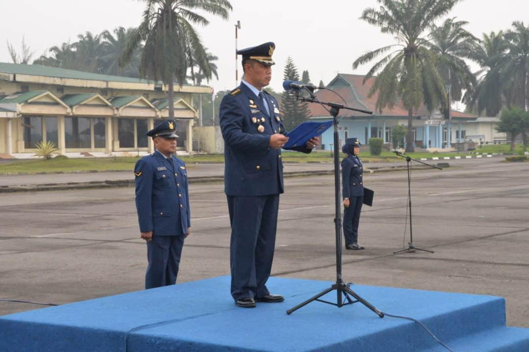 Personel TNI AU Medan Peringatan Hari Kesaktian Pancasila