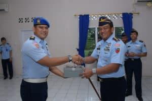 Mayor Pom Andhik, Resmi Jabat Dansatpom Lanud RHF