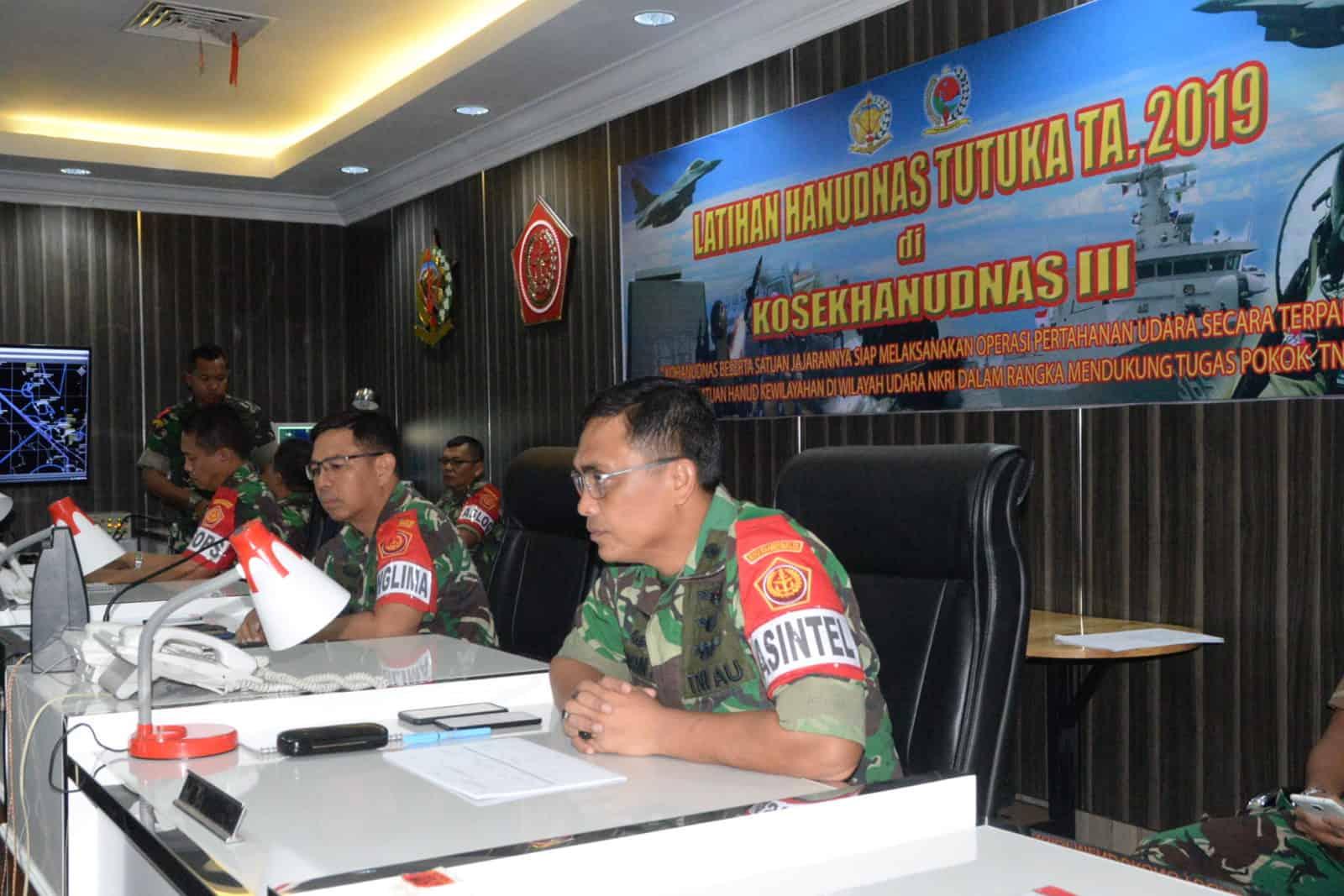 Kosekhanudnas III Melaksanakan Latihan Hanudnas Tutuka TA. 2019