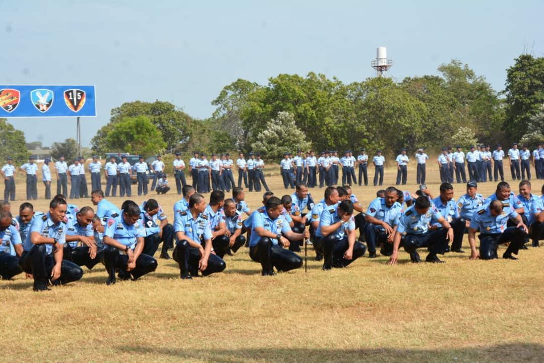 Berbasah-basah, tandai kenaikan pangkat 108 prajurit Lanud Iswahjudi