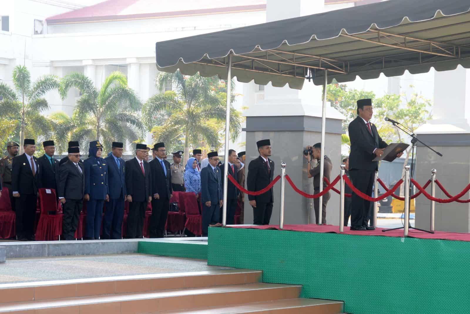 Lanud Sjamsudin Noor Ikuti Upacara Peringatan Hari Kesaktian Pancasila di Wilayah Kalimantan Selatan