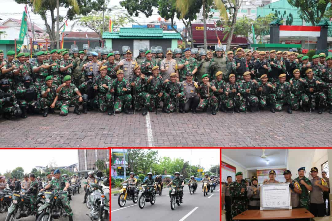 Danlanud Rsn Bersama Forkopimda Patroli Menggunakan Sepeda motor