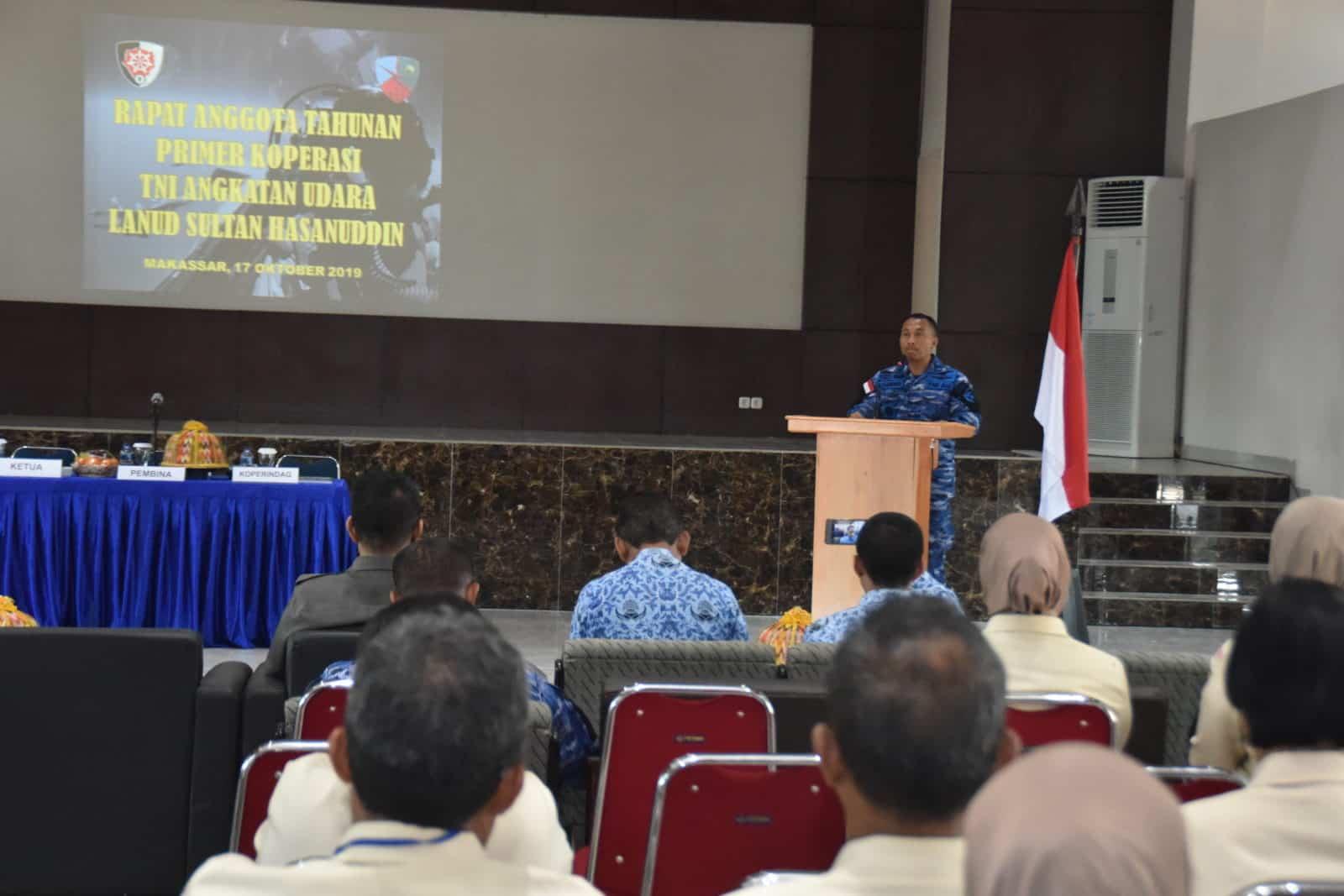 Primkopau Lanud Sultan Hasanuddin Laksanakan RAT XXXIX Tahun Buku 2018