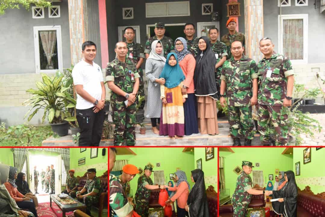 HUT TNI Ke-74, Danlanud Rsn Berikan Santunan Dan Jalin Tali Kasih