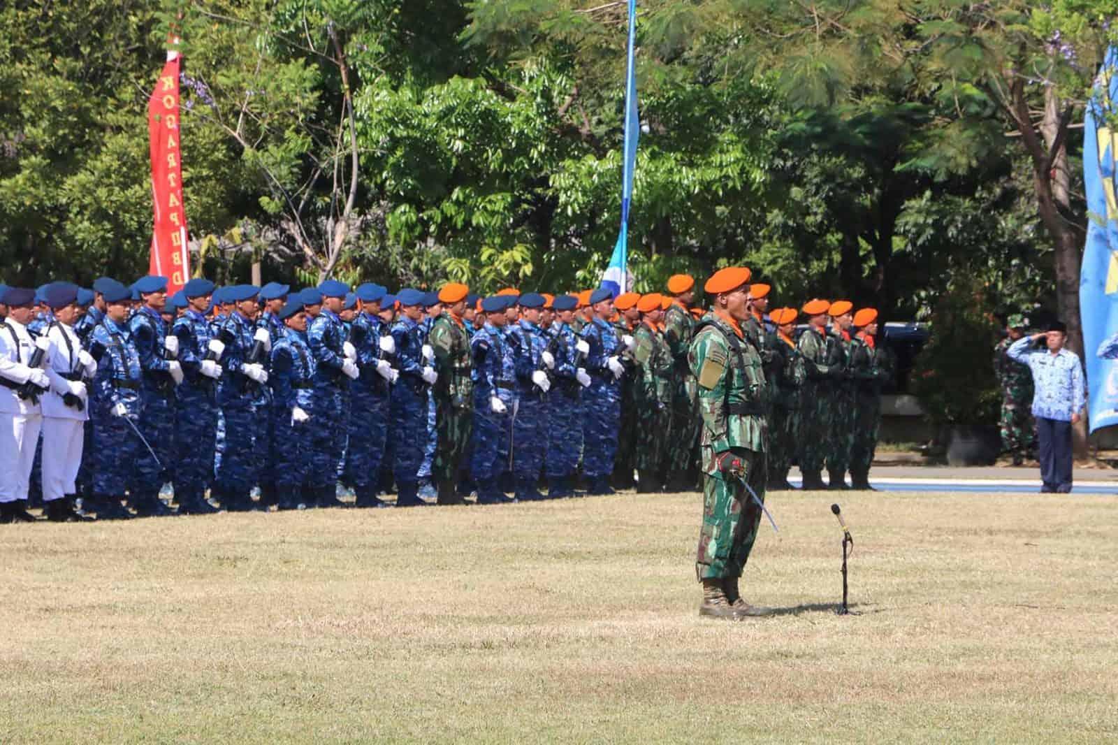 Korpaskhas Ikuti Upacara HUT ke-74 TNI di Bandung