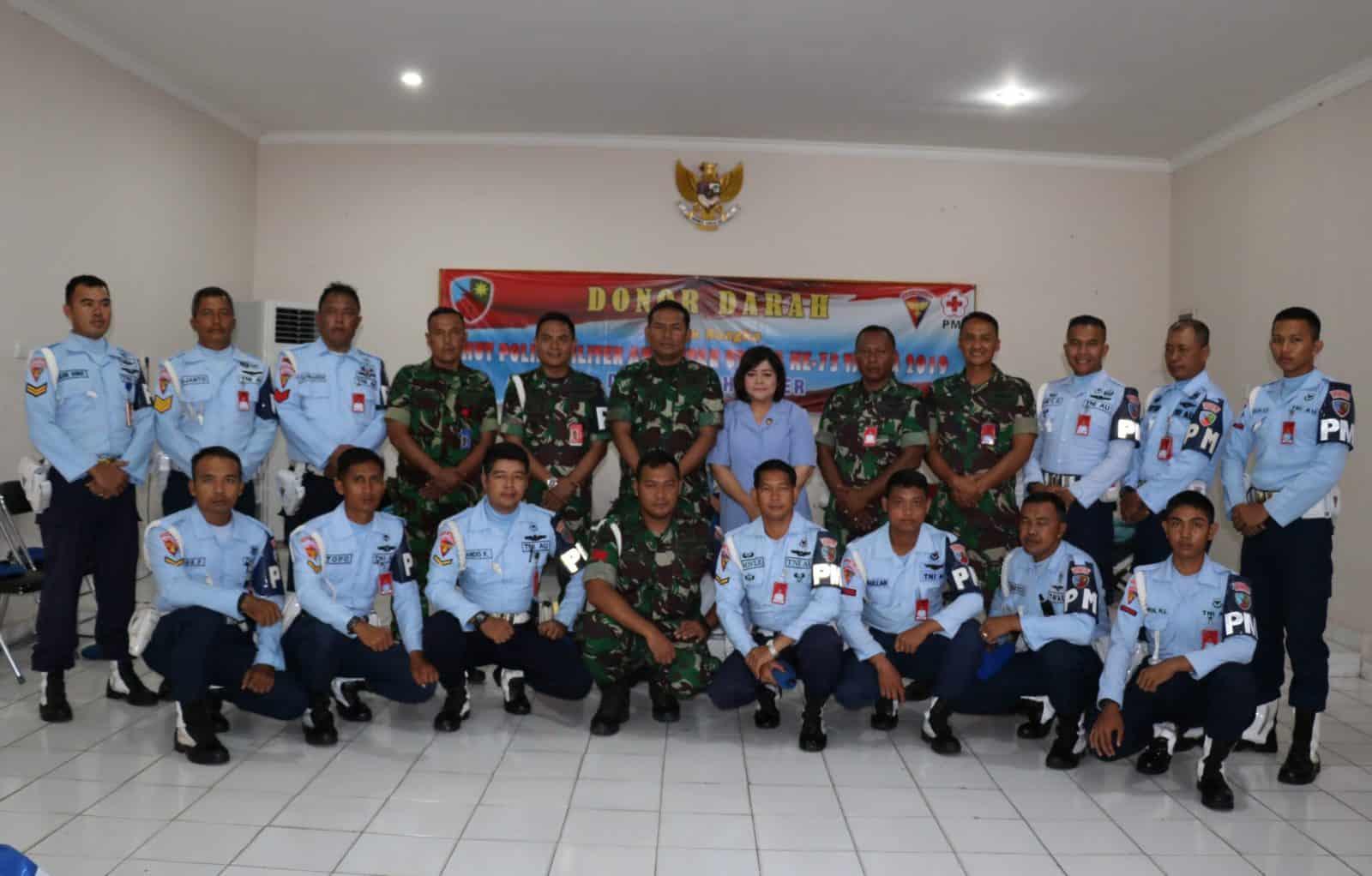 Sambut HUT ke-73 Polisi Militer Angkatan Udara (Pomau) Lanud Dhomber Gelar Donor Darah Untuk Semua