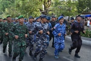 TNI-Polri Yogyakarta Gelar Olah Raga Bersama dalam rangka HUT Ke-74 TNI