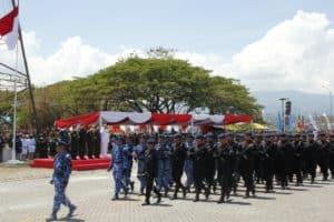 Komandan Lanud Sam Ratulangi Hadiri Upacara HUT ke-74 TNI