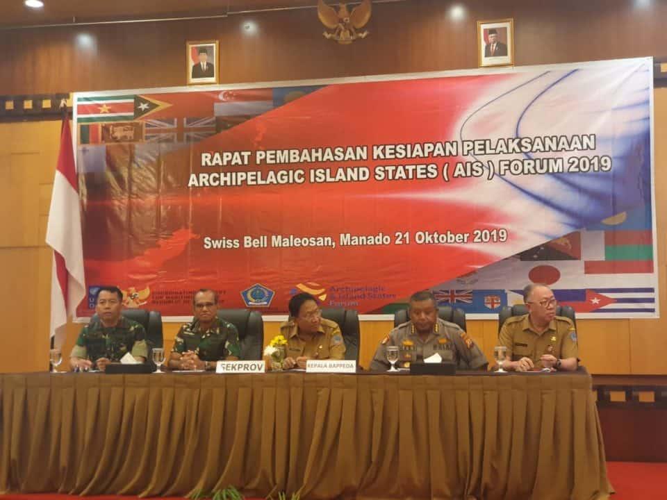 Komandan Lanud Sam Ratulangi Menghadiri Rapat Pembahasan kesiapan pelaksanaan Archipelagic Island States (AIS) forum 2019