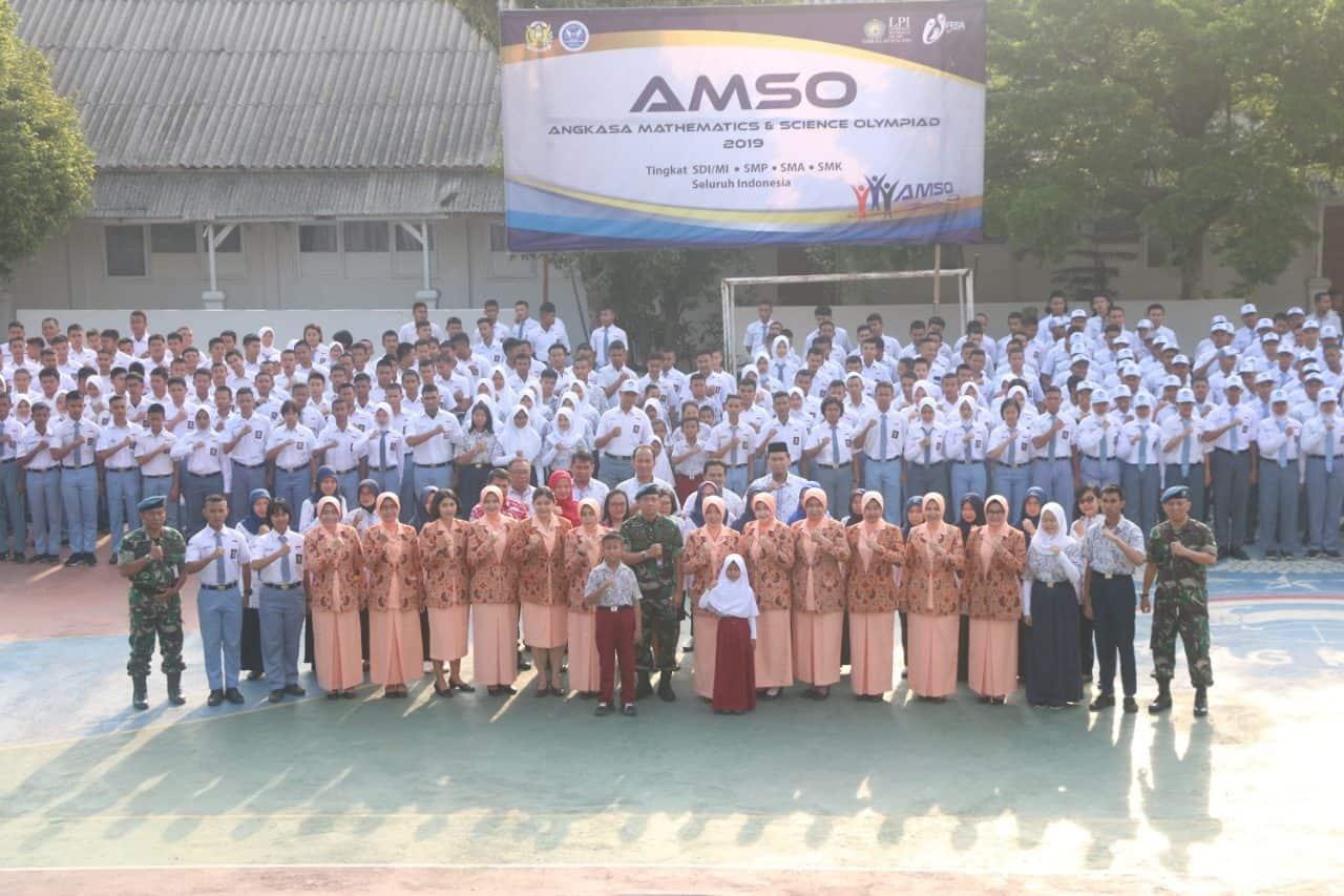 Ratusan Siswa Sekolah Angkasa Lanud Ats Ikuti AMSO 2019
