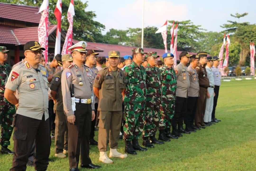 Komandan Lanud Dhomber Hadiri Apel Gelar Pasukan Operasi Zebra Mahakam 2019