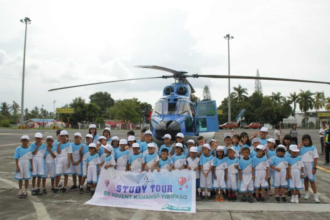 Lanud Sam Ratulangi Menerima Kunjungan Study Tour Murid SD Advent Kamanga