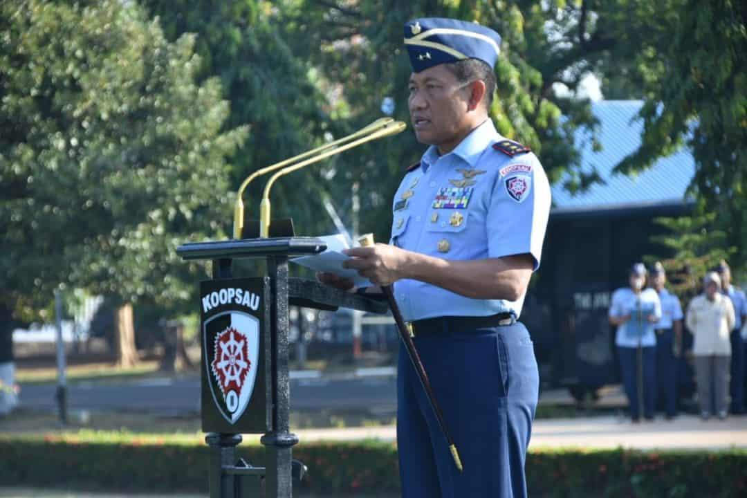 Pangkoopsau II Bertindak Sebagai Inspektur Upacara pada Peringatan ke 91 Hari Sumpah Pemuda Tahun 2019 di KoopsauII