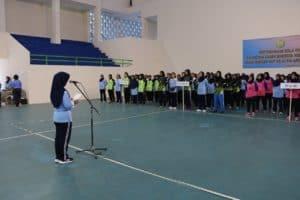 Ketua PIA Ardhya Garini Bakorda Yogyakarta membuka pertandingan bola volly