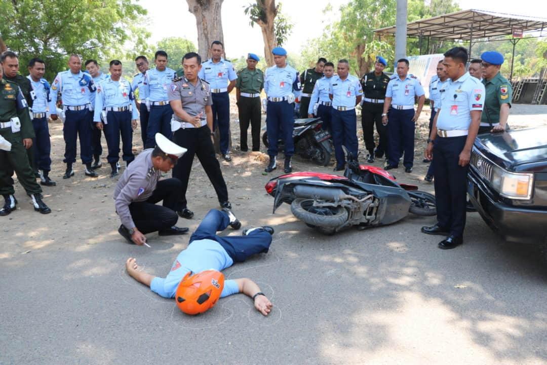 Pelatihan olah TKP pidana umum dan Laka Lantas Polisi Militer di Lanud Iswahjudi