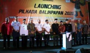Danlanud Dhomber Hadiri Acara Launching Pilkada 2020