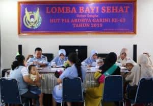 Lomba Bayi Sehat Dalam Rangka Hut Pia Ke-63 di Lanud Sultan Iskandar Muda