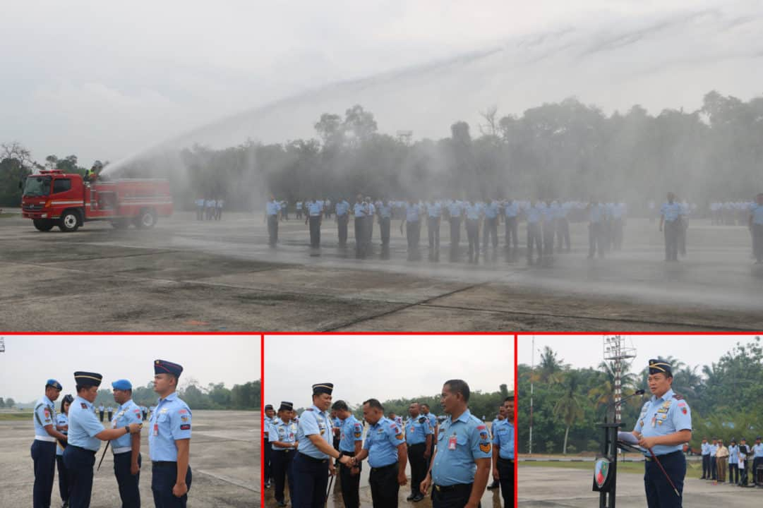 90 Personel Lanud Rsn dan Yonko 462 Paskhas Naik Pangkat