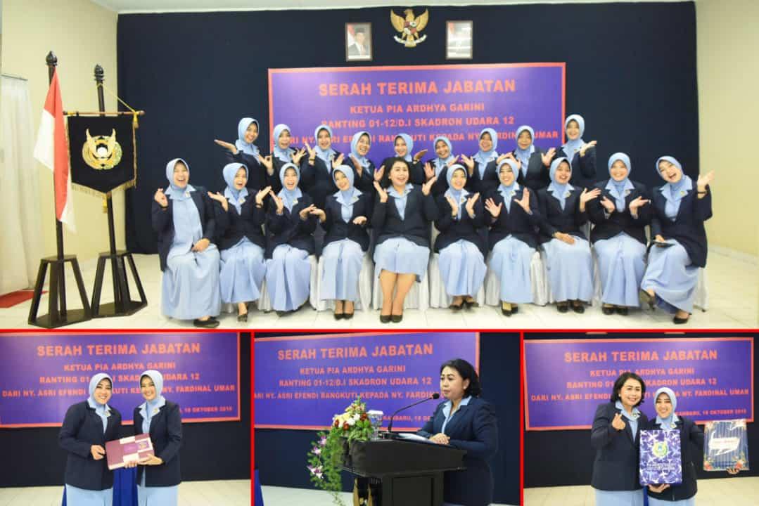 Ny. Fardinal umar Jabat Ketua PIA AG Ranting 01 Skadron Udara 12