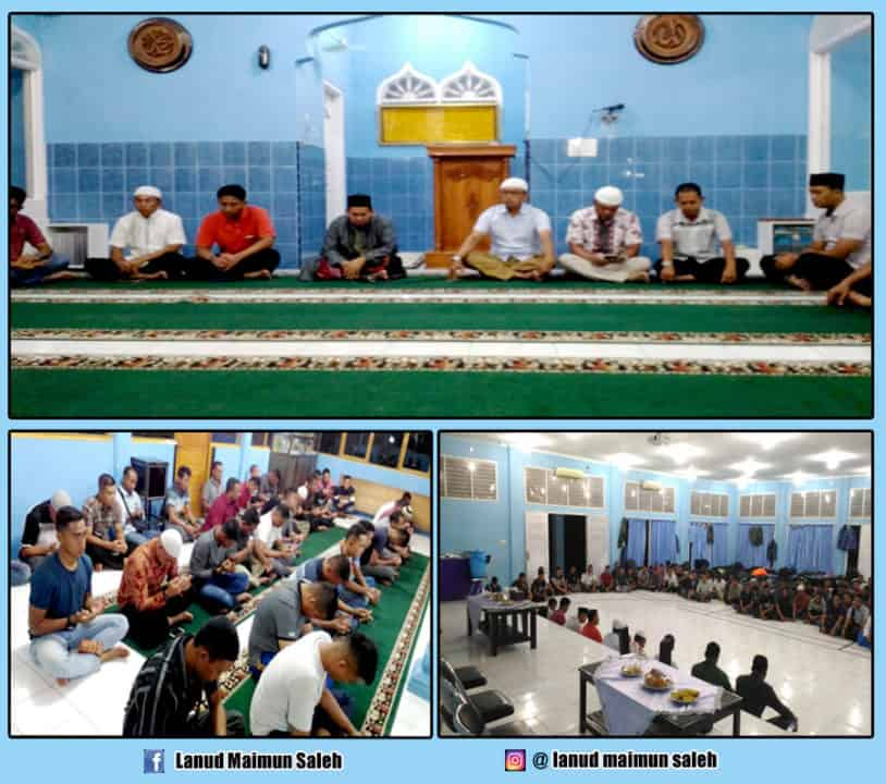 Personel TNI AU di Provinsi Aceh Gelar Do'a Bersama Sebelum Pelaksanaan Upacara HUT TNI ke 74.