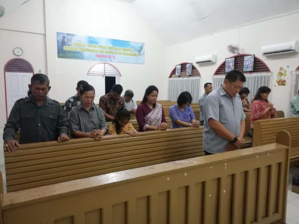 Umat Kristiani Lanud Rsn Lakukan Doa Keselamatan