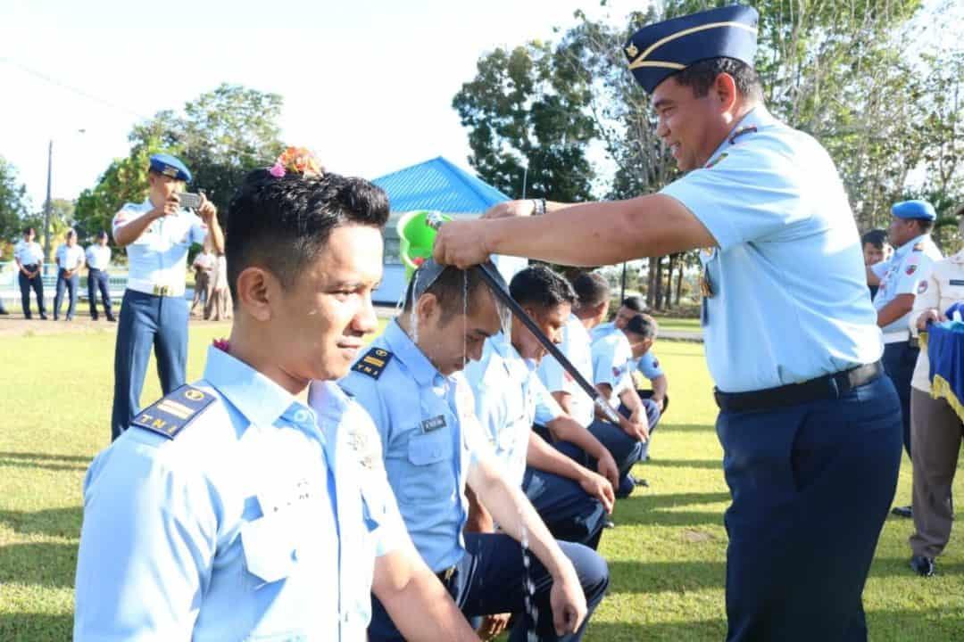 10 Prajurit Lanud Haluoleo naik pangkat periode 1 Oktober 2019