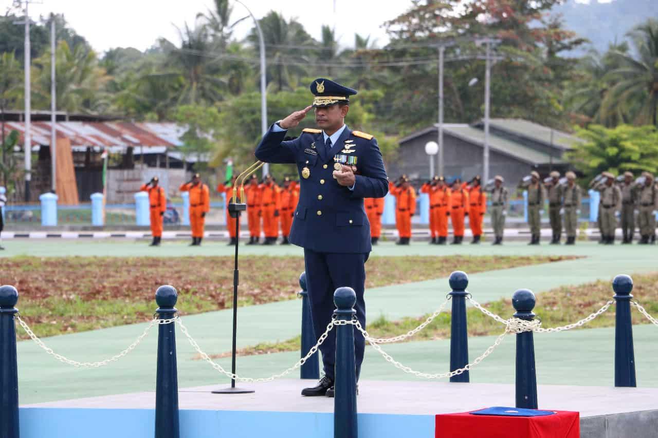 Pangkoopsau III Pimpin Puncak Peringatan HUT Ke 74 TNI Di Biak