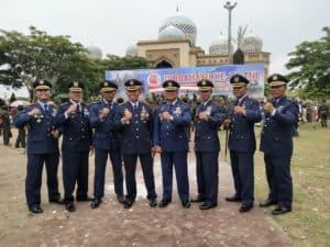 Danlanud Sim Hadir Upacara HUT ke-74 TNI di Lhokseumawe