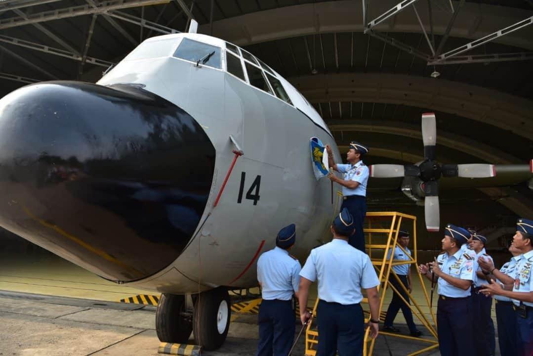 DANLANUD HALIM P. PIMPIN APEL KHUSUS RE-ALOKASI DUA PESAWAT C-130 HERCULES