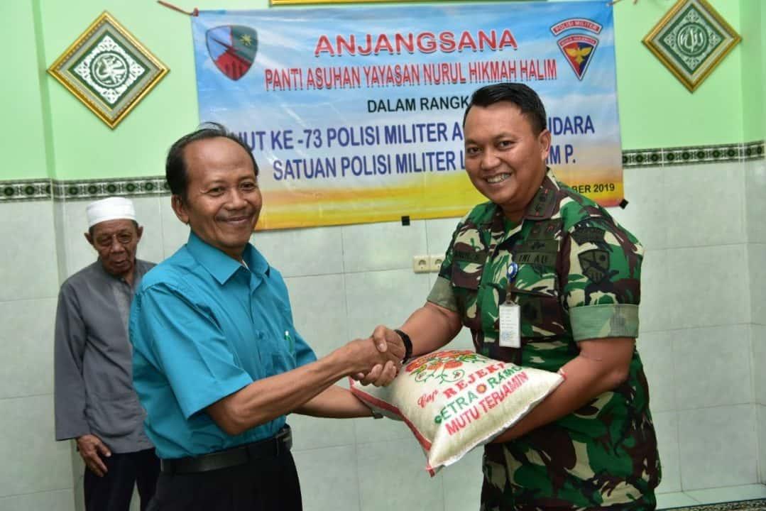 Peringati Ke-73 Pomau, Satpomau Lanud Halim P. Anjangsana ke Yayasan Nurul Hikmah
