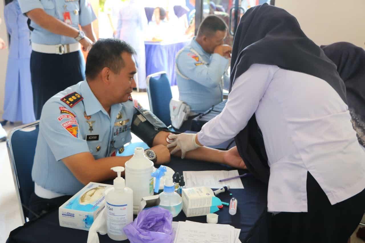 Polisi Militer Lanud Iswahjudi sumbangkan darah