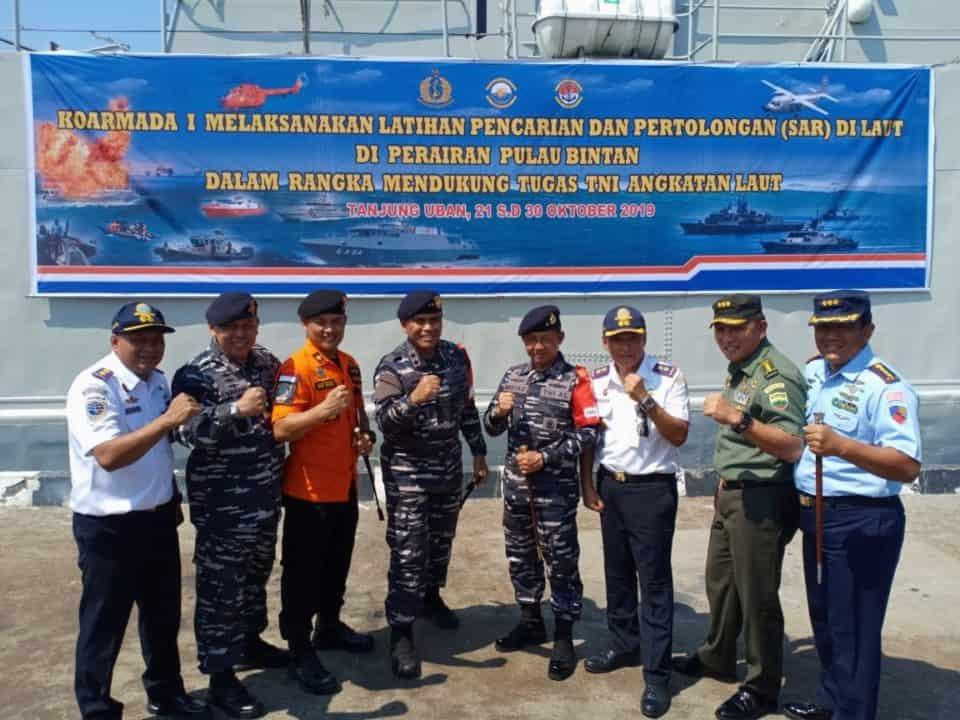 Danlanud RHF Hadiri Gelar Pasukan dan Manlap Latihan SAR Koarmada I di Tanjung Uban