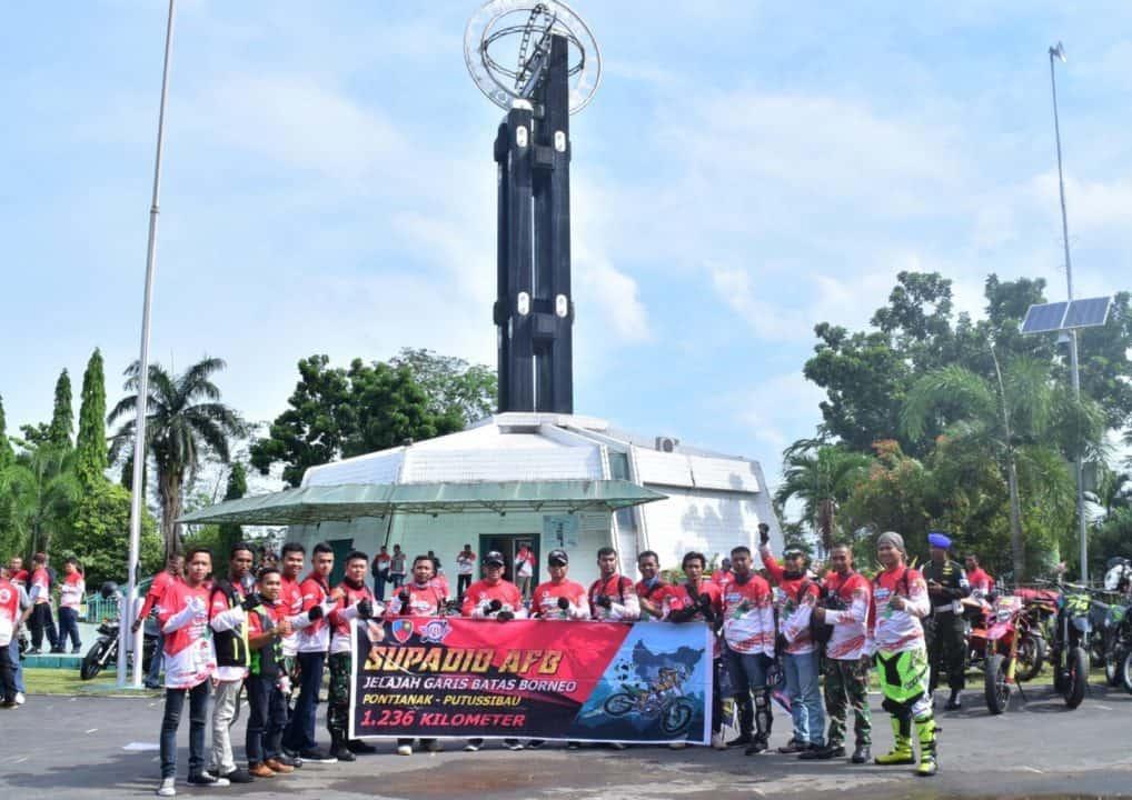 Prajurit Lanud Supadio Ikuti Touring Jelajah Garis Batas Borneo