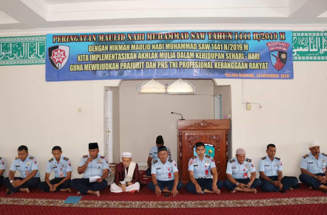 Peringatan Maulid Nabi Muhammad SAW 1441 H/2019 M di Lanud BNY