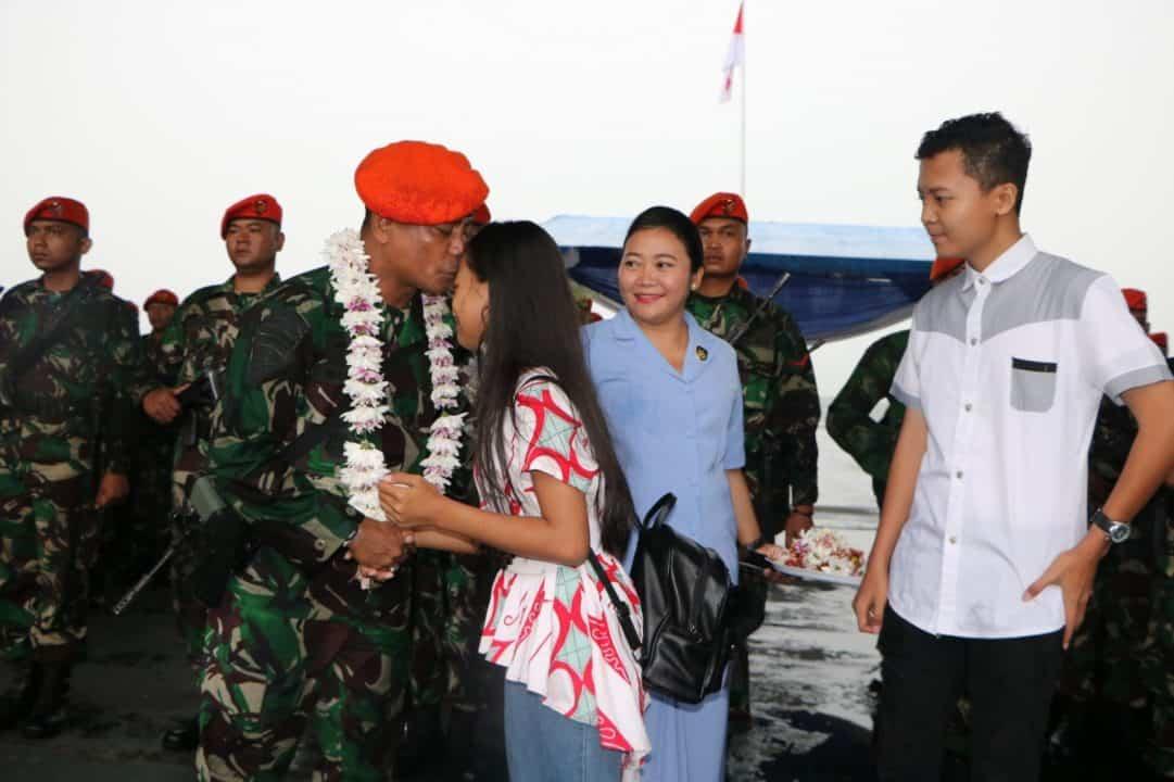 Dankorpaskhas Sambut Kedatangan Prajurit Batalyon Komando 465 Paskhas Brajamusti