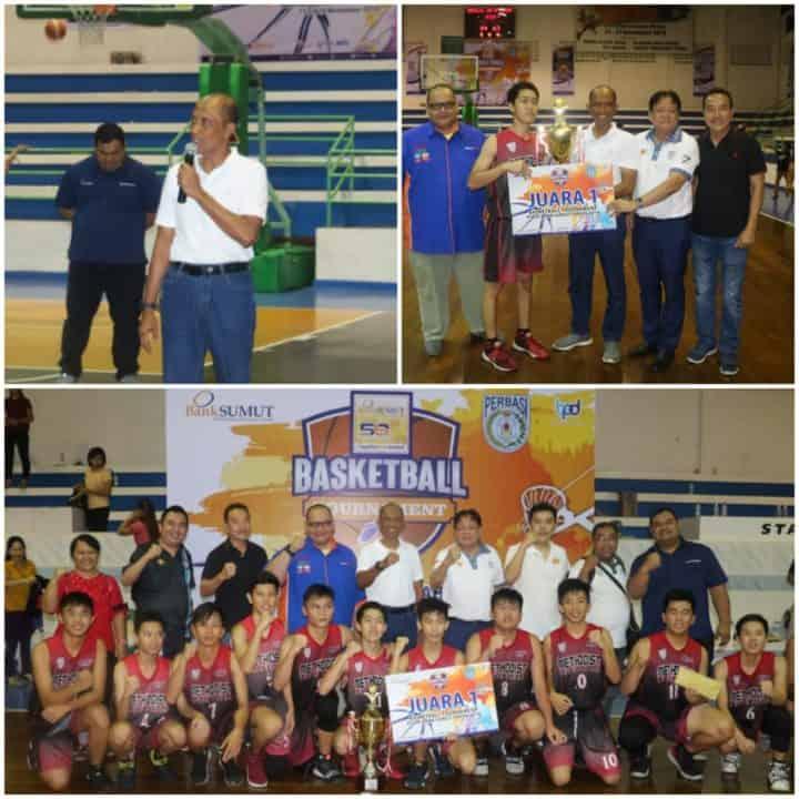 Danlanud Soewondo Tutup Resmi Turnamen Bola Basket Bank Sumut