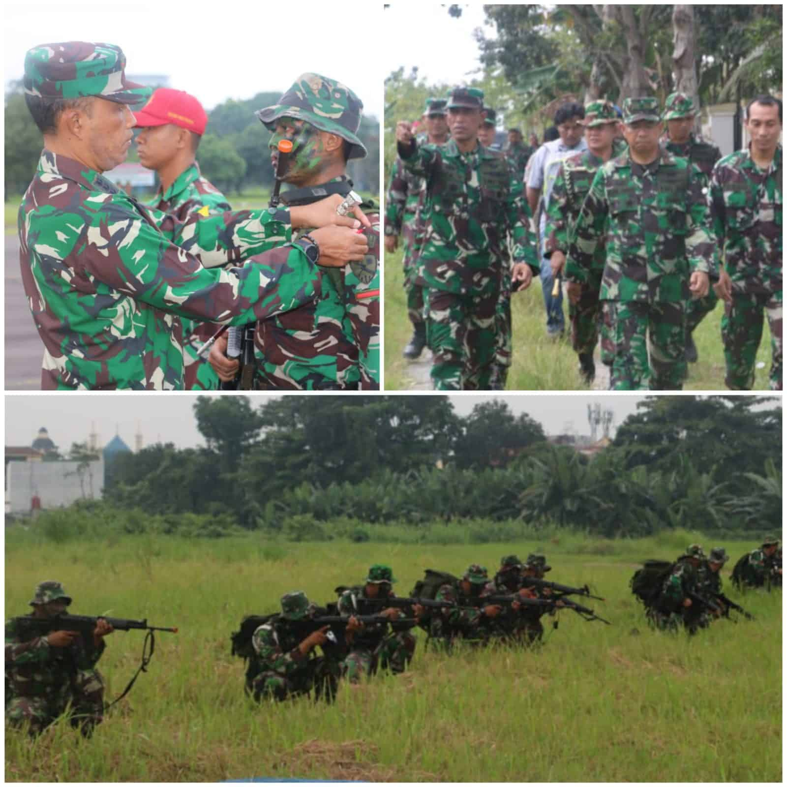 Pasukan Gabungan Lanud Soewondo, Kosekhanudnas III dan Paskhas Laksanakan Latihan Pertahanan Pangkalan