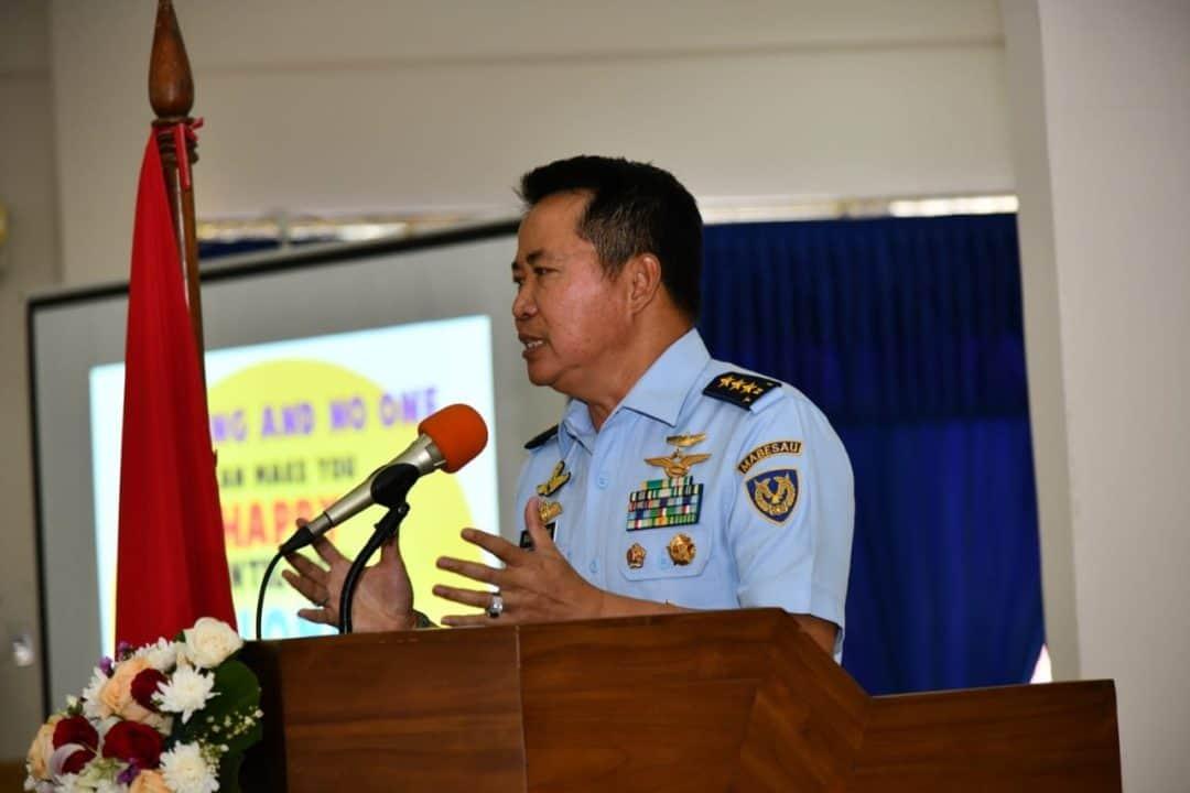 Pencerahan Wakasau kepada Prajurit dan Anggota PIA AG Cabang 2/G.IV Wing I Paskhas