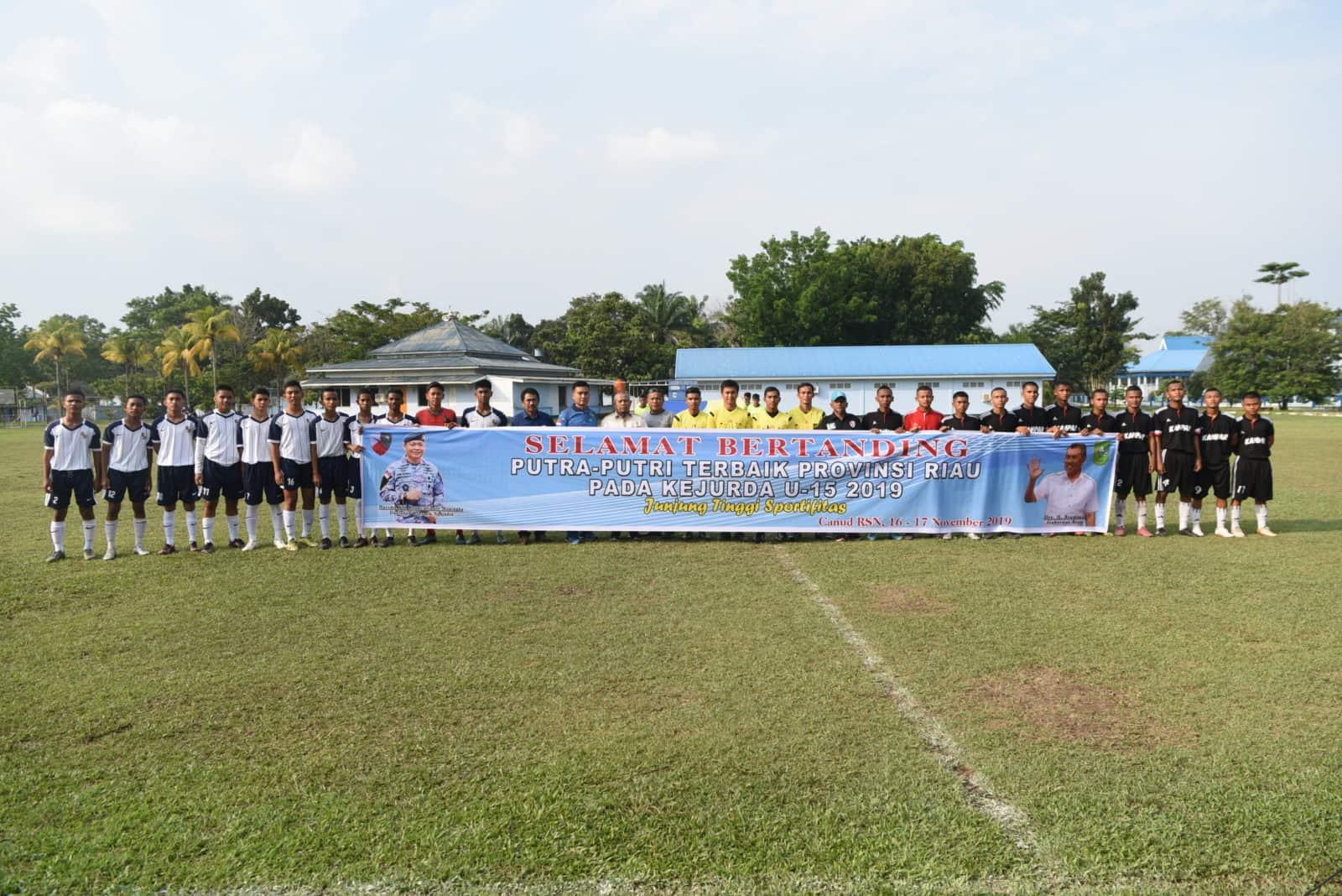 Inginkan Talenta Riau Berkiprah, Danlanud Rsn Dukung Kejurda U-15