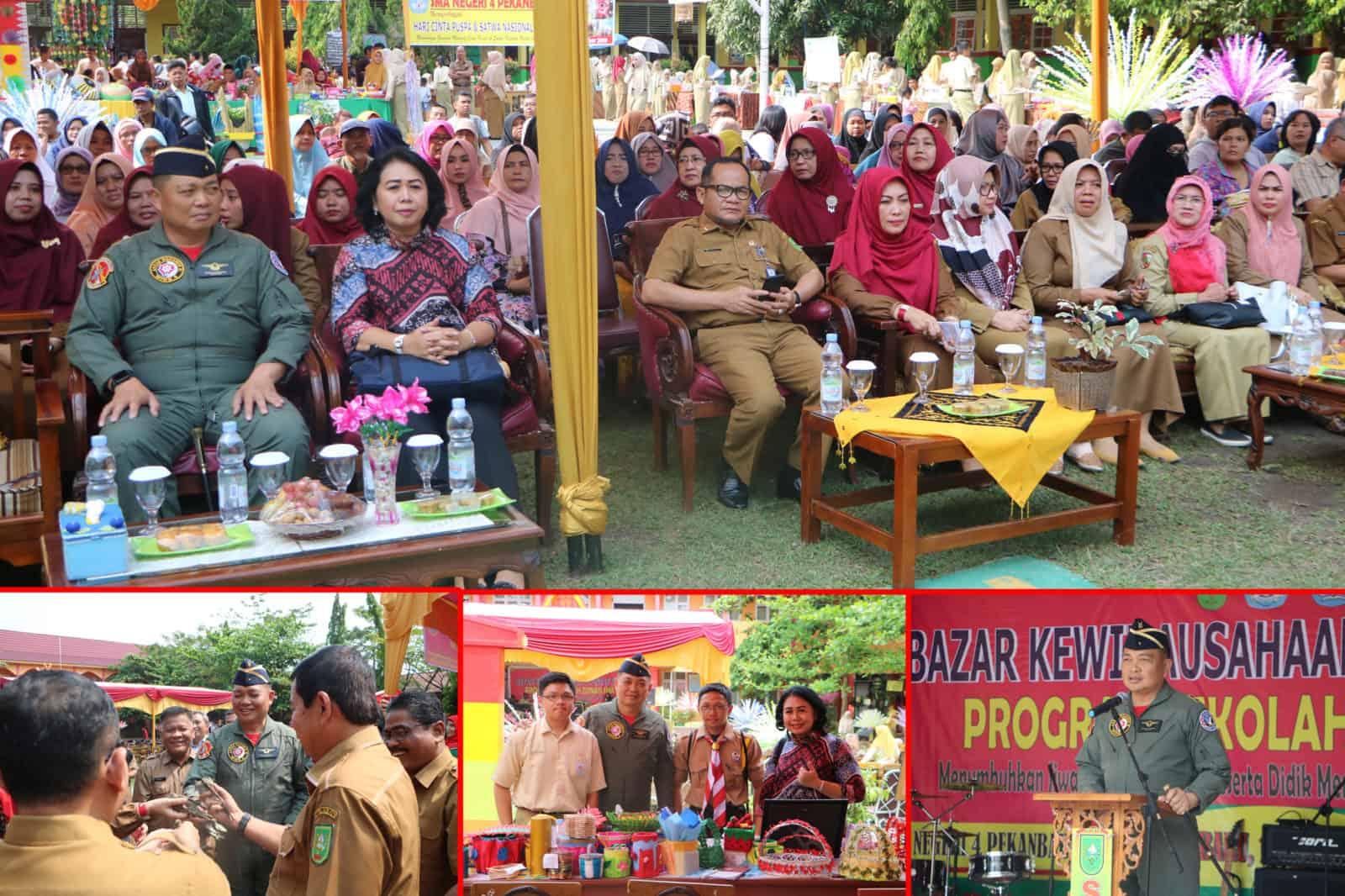 Danlanud Rsn Hadiri Bazar Kewirausahaan dan Pentas Seni di SMAN 4