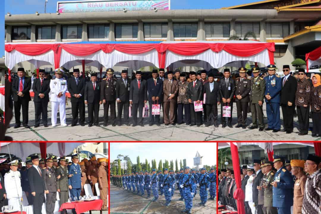 Danlanud Rsn Hadiri Upacara Hari Pahlawan di Provinsi Riau